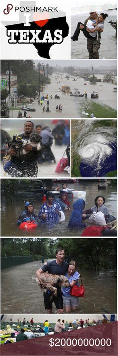 ❤️Help❤️ Hurricane Harvey Relief I live in Houston TX. Love my city and texas❤️Recent devastation has caused several damages. Everyone might have seen in news. You can see pics in this listing. Several people lost their homes and are living in shelters. Animals are being rescued too. Many people lost their lives. I have donated clothes towels blankets undies maternity clotheswill be volunteering soon. PLEASE DONATE AND HELP. Thanks y'all Anthropologie Other