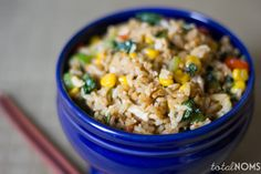 Five-Minute Fried Rice - a yummy and healthified alternative to takeout.