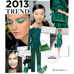 """""""2013 Trend: Emerald Shades of Green"""" by jpcarroll on Polyvore"""