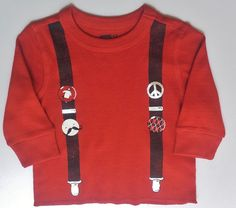 Crazy 8 By Gymboree Boys Soft Thermal L/S Suspender Shirt Sz 6-12 Months NWT #Crazy8ByGymboree #Everyday