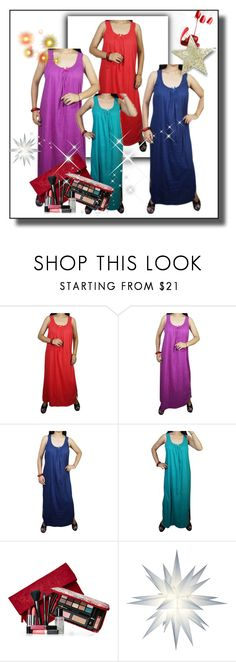 """""""Sleeveless Sleepwear Nighty For Womens"""" by royalimports ❤ liked on Polyvore featuring Elizabeth Arden, Nightwear, women, nighty, nightdress and maxinighty"""