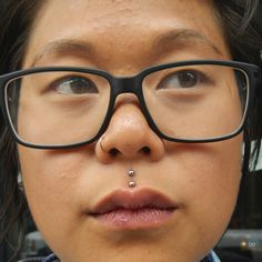 piercings: The ever-elusive double medusa! Also, a lovely nostril piercing :)  Awesome