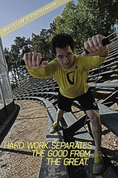 Hard work separates the good from the great. #sports
