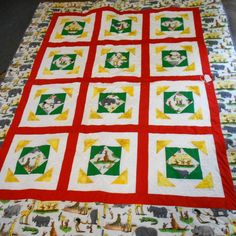Curious George -Toad in a Puddle pattern, kids quilt, zoo animals www.robinsnestquilts.com