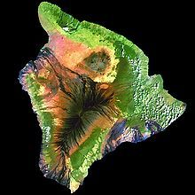 Hawaiʻi (/həˈwaɪ.i/ or /həˈwɑːiː/; Hawaiian: [həˈvɐjʔi]), is the largest island located in the U.S. state of Hawaii. It is the largest and the southeastern-most of the Hawaiian islands, a chain of volcanic islands in the North Pacific Ocean. With an area of 4,028 square miles (10,430 km2), it is larger than all of the other islands in the archipelago combined and is the largest island in the United States.