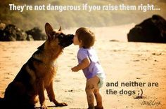 They're not dangerous if you raise them right…