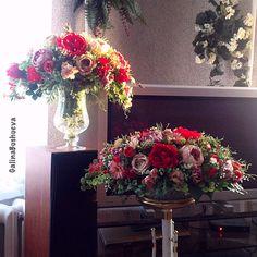 """Купить """"Рубиновый рай -2"""" интерьерная композиция. - интерьерная композиция, композиция из цветов, цветочная композиция"""