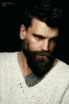 Luke Kuisis Photography    #beard  #tattoo #BrrRogers I Love Beards, Beard Love, Man Beard, Mens Facial, Facial Hair, Perfect Beard, Perfect Man, Sexy Bart, Hair And Beard Styles