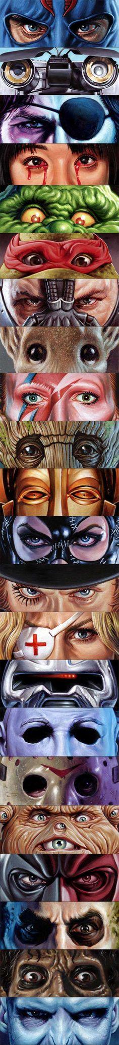Eyes without a face art series By Jason-Edmiston via geektyrant.com
