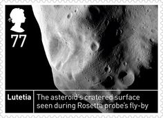 Lutetia. From Royal Mail stamps to mark the 50th anniversary of Ariel 1, the UK's first satellite, making it the world's third spacefaring nation.