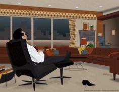 Mad Men Illustrations by Dyna Moe