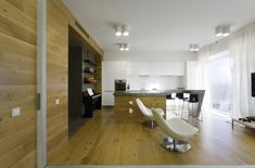 Soft Brown Colored Wooden Floor Along With Bright Clear Lamps