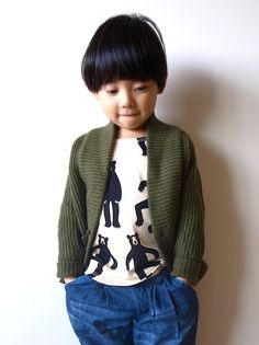 I love this Mini Rodini bear top - the cardy looks perfect with this outfit too