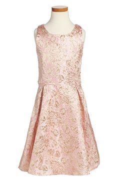 Pleated Brocade Dress (Big Girls)