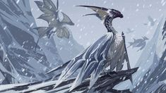 Monster Hunter Series, Monster Hunter Art, Creature Concept Art, Creature Design, Mythical Creatures Art, Fantasy Creatures, Monster Hunter World Wallpaper, Ice Monster, Fantasy Beasts