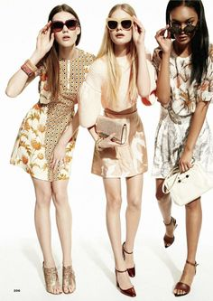 give us some prints, please: sarah joffs, kate wagoner and josilyn williams by jennifer livingston for us glamour april 2013 | visual optimism; fashion editorials, shows, campaigns & more!