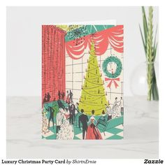 Luxury Christmas Party Card Luxury Card, Christmas Greetings, Party Hats, Funny Cute, Create Your Own, Branding Design, Cards, Wedding, Casamento