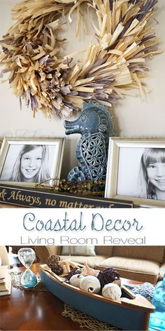 Coastal Decor {Living Room Reveal