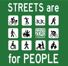Streets are for people.