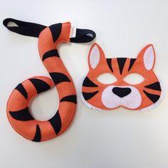 Opposite of Far Tiger mask and tail set. Very high quality tiger mask and tail set handmade in Indiana, USA. + Free P&P Fancy Dress Diy, Diy Dress, Dress Ideas, Diy For Kids, Cool Kids, Animal Costumes For Kids, Tiger Costume, Tiger Mask, Animal Tails