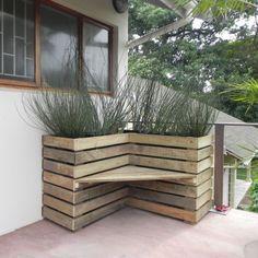 #Pallet Bench Planter -