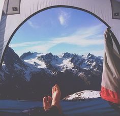 i want to live out of a tent, car and backpack for one year. this is awesome.