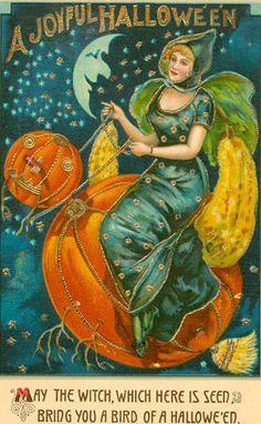 .Vintage Halloween Greeting Card