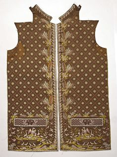 Waistcoat Date: late 18th cenutry Culture: French Medium: silk