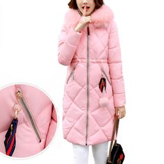 Fanmuer 2017 winter jacket women medium-long fur coat womens clothing female slim with hood coat plus size women coat parka * AliExpress Affiliate's buyable pin. Locate the offer on www.aliexpress.com simply by clicking the VISIT button