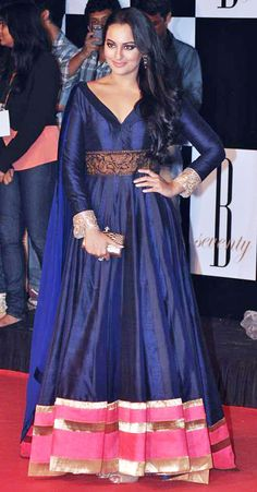 sonakshi_sinha_blue_anarkali_dress