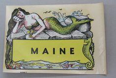 Mermaid Decal Maine Memorabilia Souvenir by FindingMaineVintage, $19.00