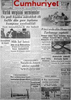 Cumhuryet Newspaper Headlines, Old Newspaper, Turkey Country, First Time, History, Wordpress, Retro, Nostalgia, Historia