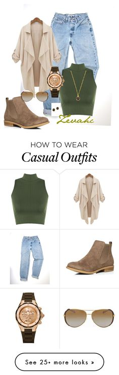 """""""Casual mode"""" by zevahcmary on Polyvore featuring WearAll, Dorothy Perkins, Alchemy Jewelry, Michael Kors, Michele and Effy Jewelry"""