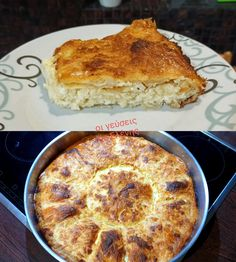 """Νόστιμη συνταγή μαγειρικής από """"Οι Γεύσεις της Ελένης"""" ΥΛΙΚΑ 1 πακ. Φύλλο κρούστας (12 φύλλα) Γέμιση Μισό κιλό φέτα τριμμένη 250 γρ. Γραβιέρα τριμμένη 200 γρ. Ρεγκάτο τριμμένο 200 γρ. Γιαούρτι στραγγιστό 100 ML ελαιόλαδο 150 Quiche, Mashed Potatoes, Food To Make, Main Dishes, Recipies, Breakfast, Ethnic Recipes, Desserts, Exercises"""