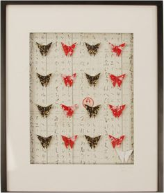 Hirgana Butterfly Frame    Handmade in Melbourne with much love and care