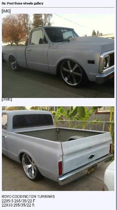 67-72 chevy c10 truck  on rims