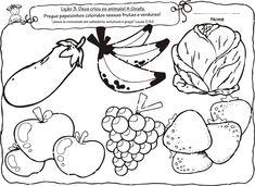 Desenhos Para Colorir De Alimentos Saudaveis A Pampekids Net