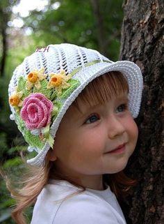 little girl's summer hat, chart pattern by miranda