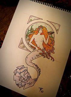 mermaid tattoos | Mermaid tattoo by tarafleming on deviantART
