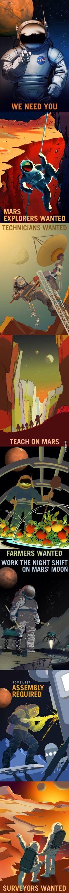 New NASA's Mars posters