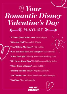 Valentine's Day Playlist: Your Romantic Disney Picks | Oh My Disney | Music