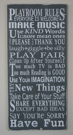 Play house rules...
