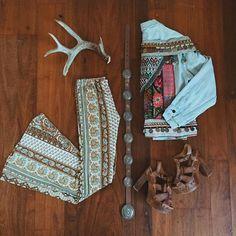 WEBSTA @ wildandfreejewelry - Saturday night outfit inspiration feat. #wildandfreejewelry Embellished Denim. Bells: @novellaroyale Platforms: @bedstu