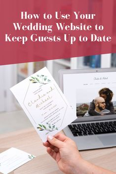 If your wedding plans change, whether by choice or our of necessity, it's important to keep your guests in the loop. While you're busy sorting our new plans, save yourself some time and stress by using your wedding website to communicate with guests. We've compiled tips for keeping your wedding guests informed, head over to our blog to read more. #weddingwebsites #weddingplanning #withjoy Wedding Invitation Wording Examples, Unique Invitations, Beautiful Wedding Invitations, Invitation Design, Wedding Stationary, Free Wedding, Plan Your Wedding, Wedding Tips, Diy Wedding