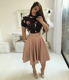31 New Ideas For Womens Fashion Casual Winter Moda Trend Fashion, Work Fashion, Modest Fashion, Fashion Dresses, Fashion Looks, Fashion Clothes, Fashion Fashion, Fashion Stores, Casual Clothes