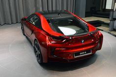 The Princess of Abu Dhabi wished custom made BMW i8 in a special Lava red color. And guess what? This unique 1 of 1 car is now already parked in her garage.