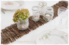 Tischband 90cm x 15cm Tischläufer Holz  von Wohngeschichten von K. auf DaWanda.com