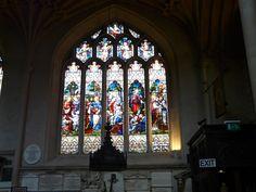 Window at Bath Abbey, Bath, England.