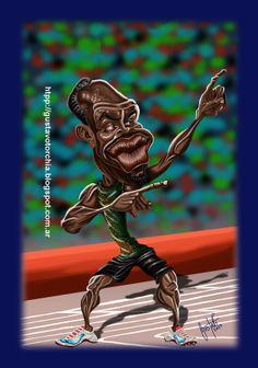 Usain Bolt Usain Bolt, Photoshop, Caricatures