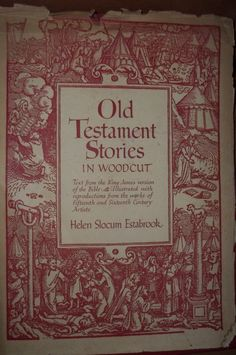 Old Testament Stories     Mothers Day by mariehuddleston on Etsy, $75.00